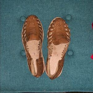 Handmade genuine leather huaraches
